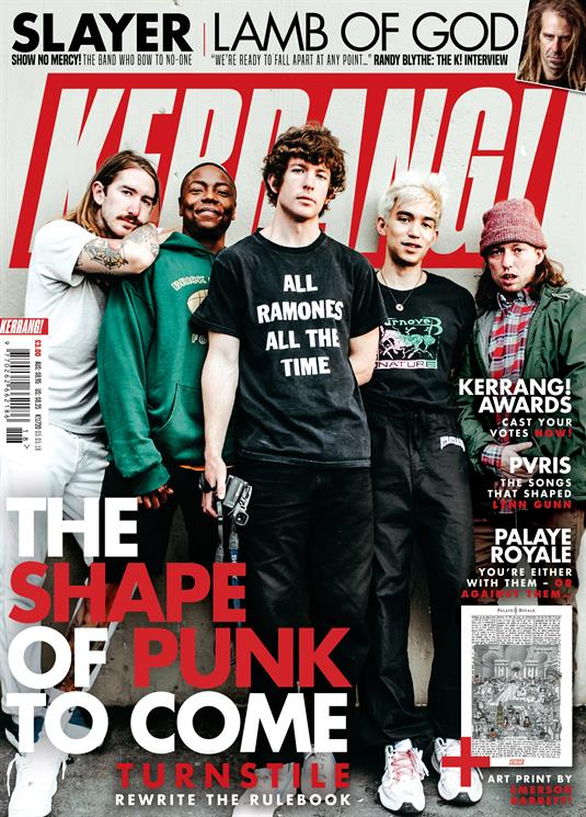 Kerrang! Magazine May 2018: TURNSTILE PVRIS Lynn Gunn LAMB OF GOD Slayer Palaye Royale