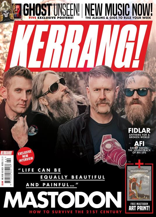 KERRANG! magazine 12 January 2019 #1755 Mastodon + art print; Ghost, Fidlar, AFI