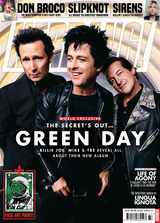 KERRANG! magazine Sept 14 2019: Green Day Cover Interview + Art Print - Slipknot