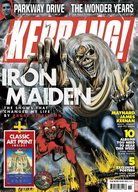 Kerrang! Magazine 17th March 2018 Iron Maiden Bruce Dickinson Exclusive
