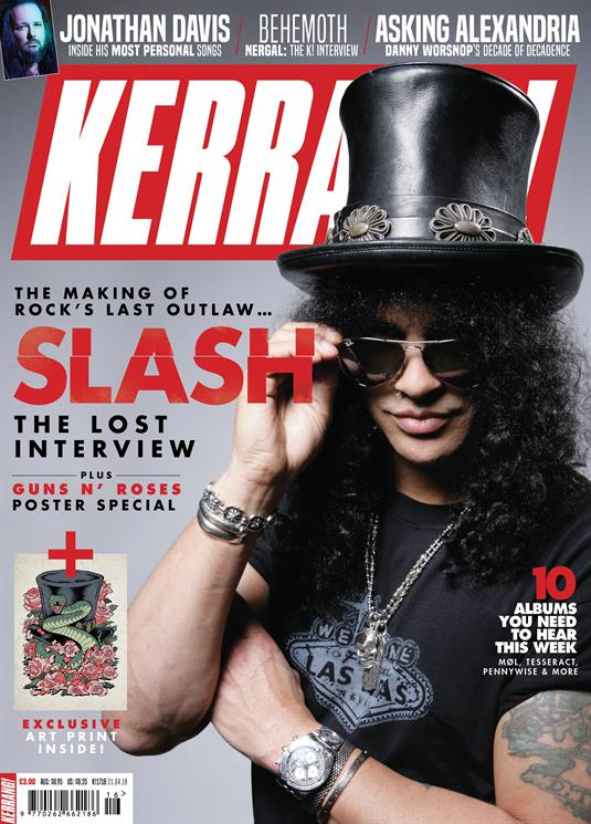 Kerrang! Magazine April 2018: SLASH - The Lost Interview & Guns N' Roses Poster Special