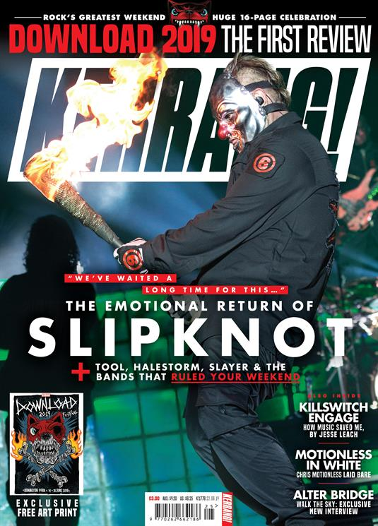 KERRANG! magazine 22 June 2019 Slipknot At Download 2019 + Slayer Halestorm Tool