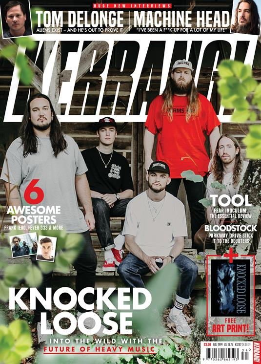 KERRANG! magazine Aug 24 2019: Knocked Loose + Art Print - Tool Machine Head