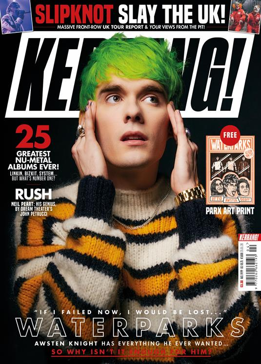 KERRANG! magazine Jan 2020: Waterparks Cover + Art Print - Neil Peart (Rush)