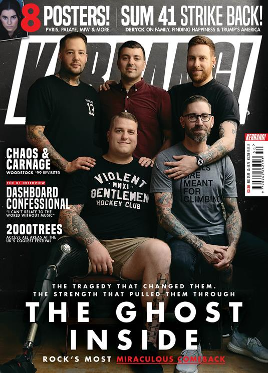 KERRANG! magazine July 2019: The Ghost Inside - Sum 41 - Dashboard Confessional PVRIS
