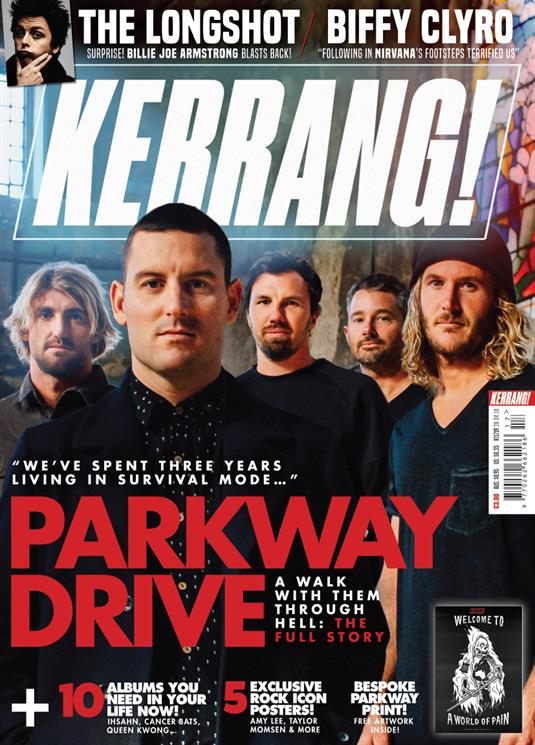 Kerrang! Magazine 28th April 2018 Parkway Drive Amy Lee Evanescence Green Day