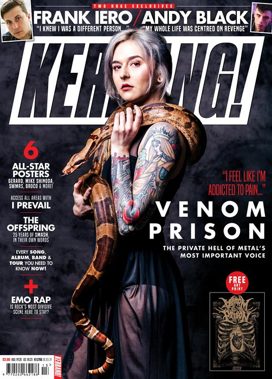 KERRANG! magazine 30 March 2019 Venom Prison + art print - Frank Iero Andy Black