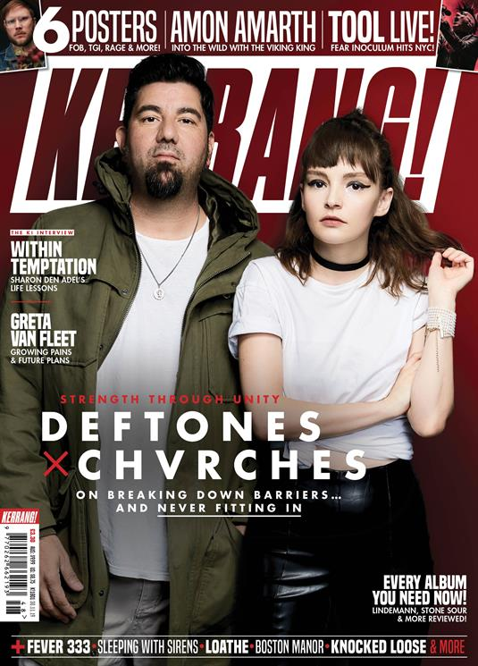 KERRANG! magazine Nov 2019: Deftones + Chvrches - Greta Van Fleet Tool Within Temptation