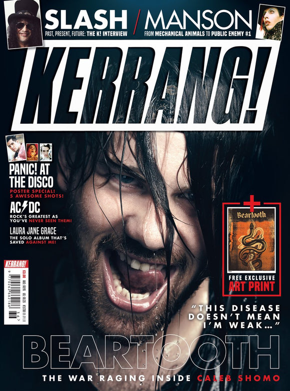 Kerrang! September 8th 2018: Beartooth Marilyn Manson Slash Panic! At The Disco