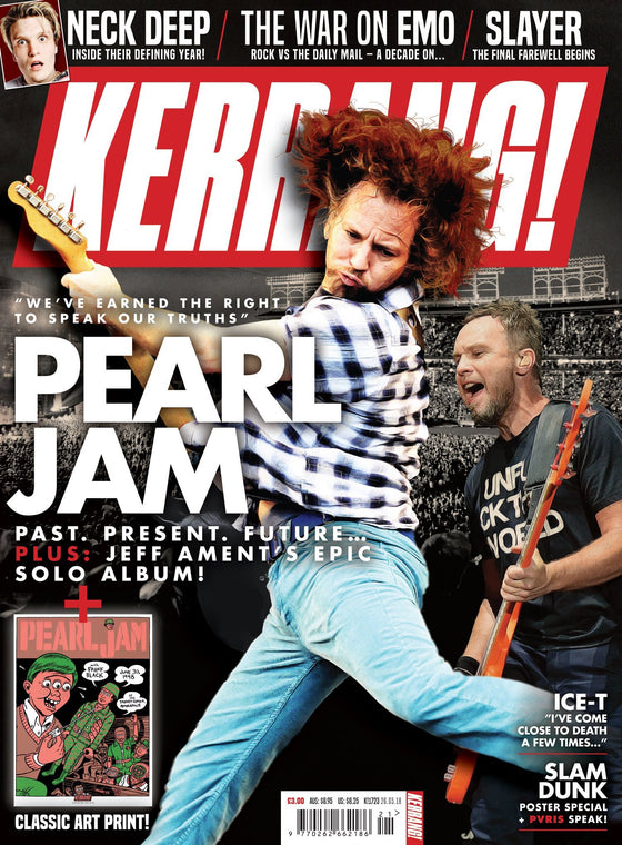 UK Kerrang! Magazine May 2018: Pearl Jam Mike Shinoda Linkin Park & Classic Art Print