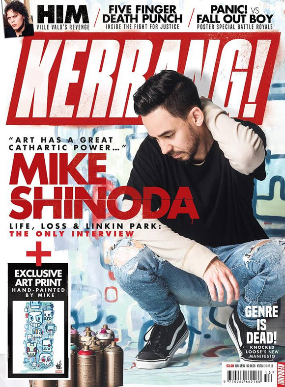 Mike Shinoda of Linkin Park on the cover of Kerrang!