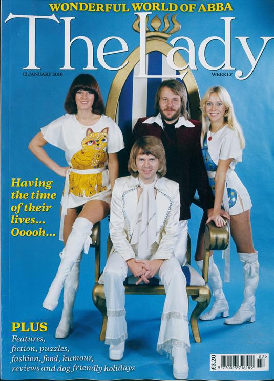 THE LADY magazine 12 January 2018 - ABBA cover and feature