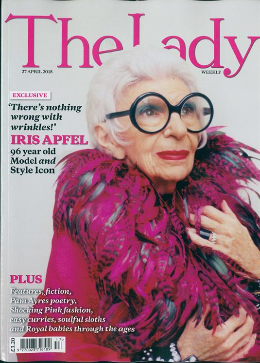 THE LADY magazine 27 April 2018 - IRIS APFEL Photo cover and feature