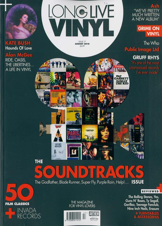 UK Long Live Vinyl Magazine August 2018 #17: KATE BUSH The Who JOHN LYDON Ash