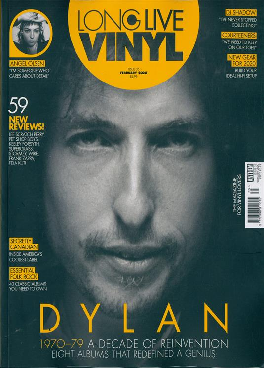 Long Live Vinyl Magazine Feb 2020: BOB DYLAN 1970-79 - A DECADE OF REINVENTION