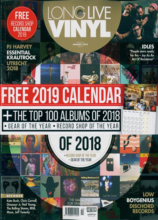 Long Live Vinyl Magazine January 2019: PJ HARVEY Kate Bush CHRIS CORNELL Idles
