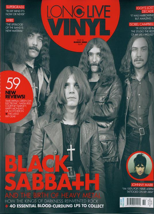 Long Live Vinyl #36 (March 2020) Black Sabbath Ozzy Osbourne Johnny Marr