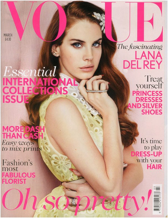 UK Vogue Magazine March 2012 Lana Del Rey Cover Story