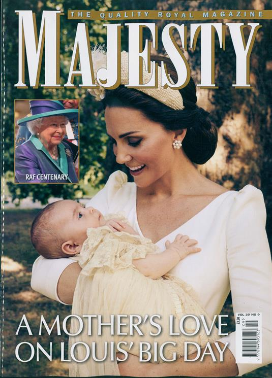 Majesty Magazine September 2018: THE CHRISTENING OF ROYAL BABY PRINCE LOUIS KATE MIDDLETON