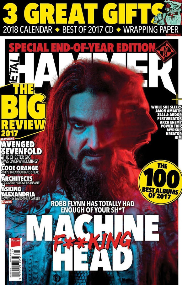 Metal Hammer Magazine January 2018 MACHINE HEAD & 2018 CALENDAR WITH VILLE VALO OF HIM