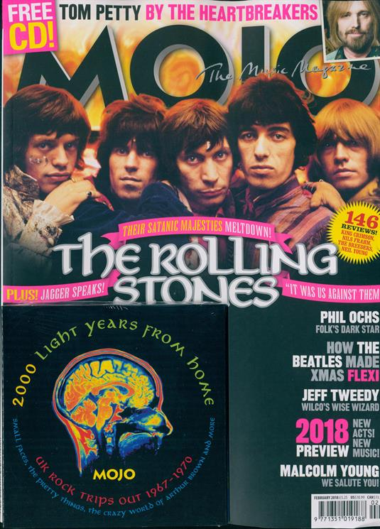 MOJO magazine February 2018 The Rolling Stones Tom Petty Malcolm Young Ezra Furman