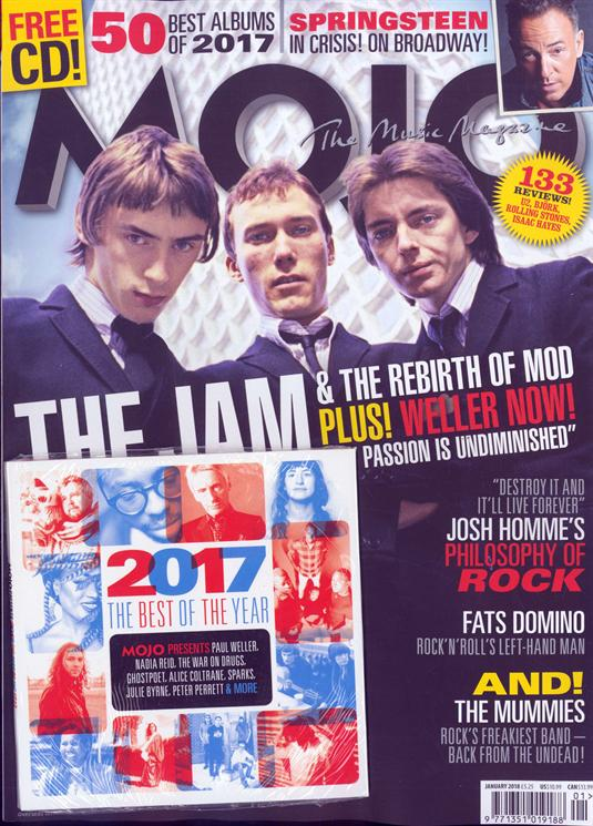 UK MOJO magazine January 2018 The Jam Paul Weller Bruce Springsteen Josh Homme