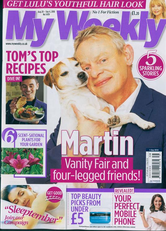 My Weekly Magazine September 2018; MARTIN CLUNES COVER INTERVIEW