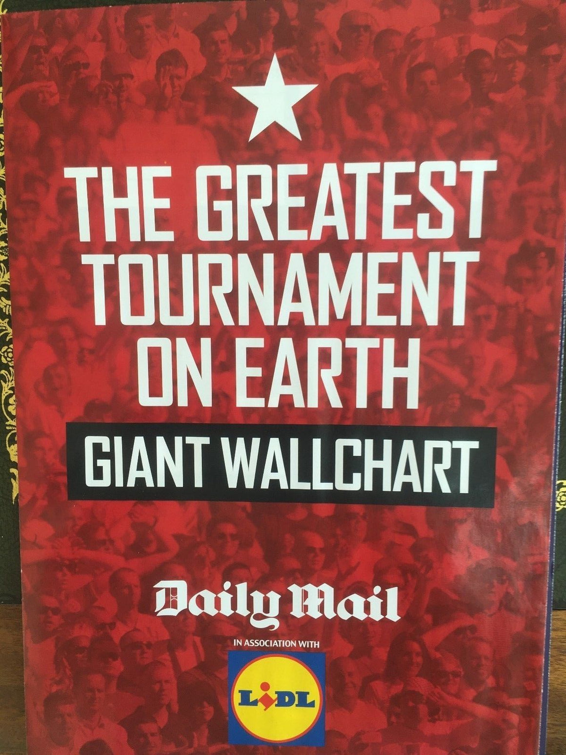 Daily Mail Football World Cup Russia 2018 Wallchart Poster Fixture Guide Planner