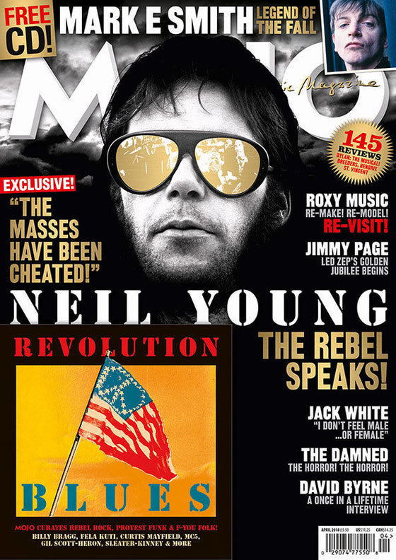 UK Mojo magazine April 2018 Neil Young Jimmy Page The Damned David Byrne