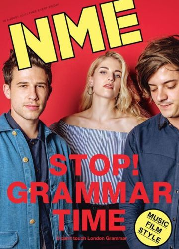 LONDON GRAMMAR Photo Cover interview UK NME MAGAZINE August 18th 2017