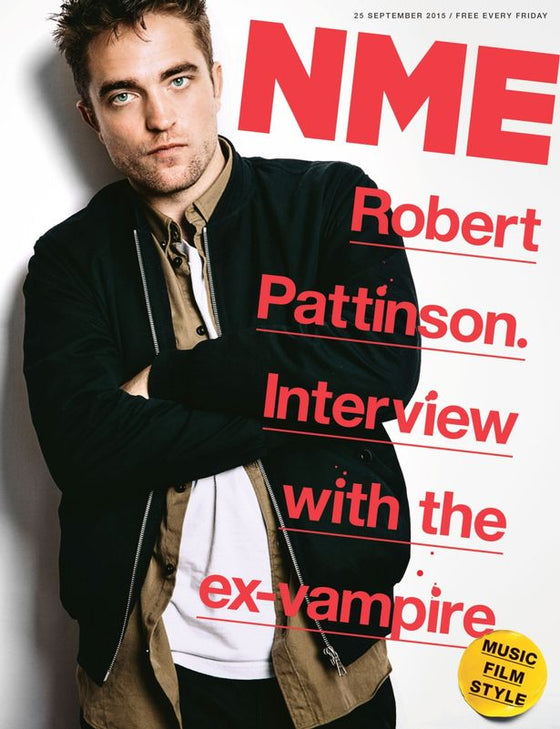 ROBERT PATTINSON WORLD EXCLUSIVE NME MAGAZINE SEPT 2015 CHVRCHES BILL BAILEY