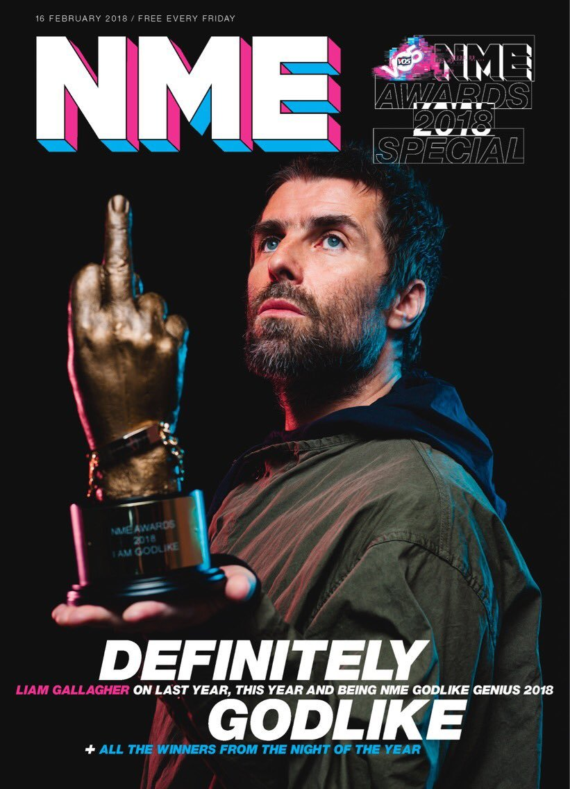 NME Magazine - 16th February 2018 - NME AWARDS 2018 - Liam Gallagher Cover
