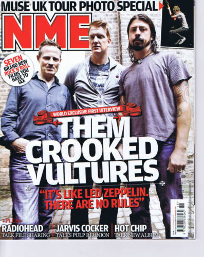 UK NME Magazine 14 November 2009 Josh Homme Dave Grohl Them Crooked Vultures