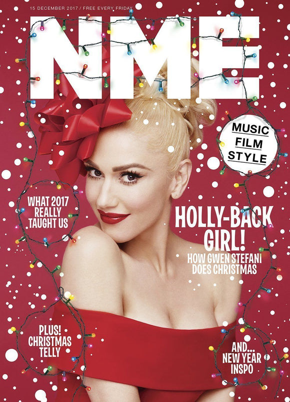 UK NME Magazine DECEMBER 2017: GWEN STEFANI No Doubt COVER & FEATURE