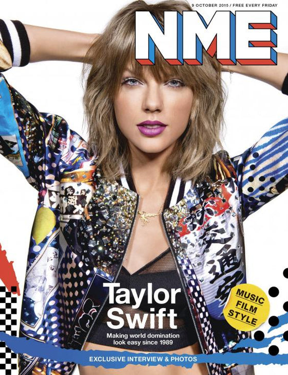 TAYLOR SWIFT on the cover of the NME Magazine
