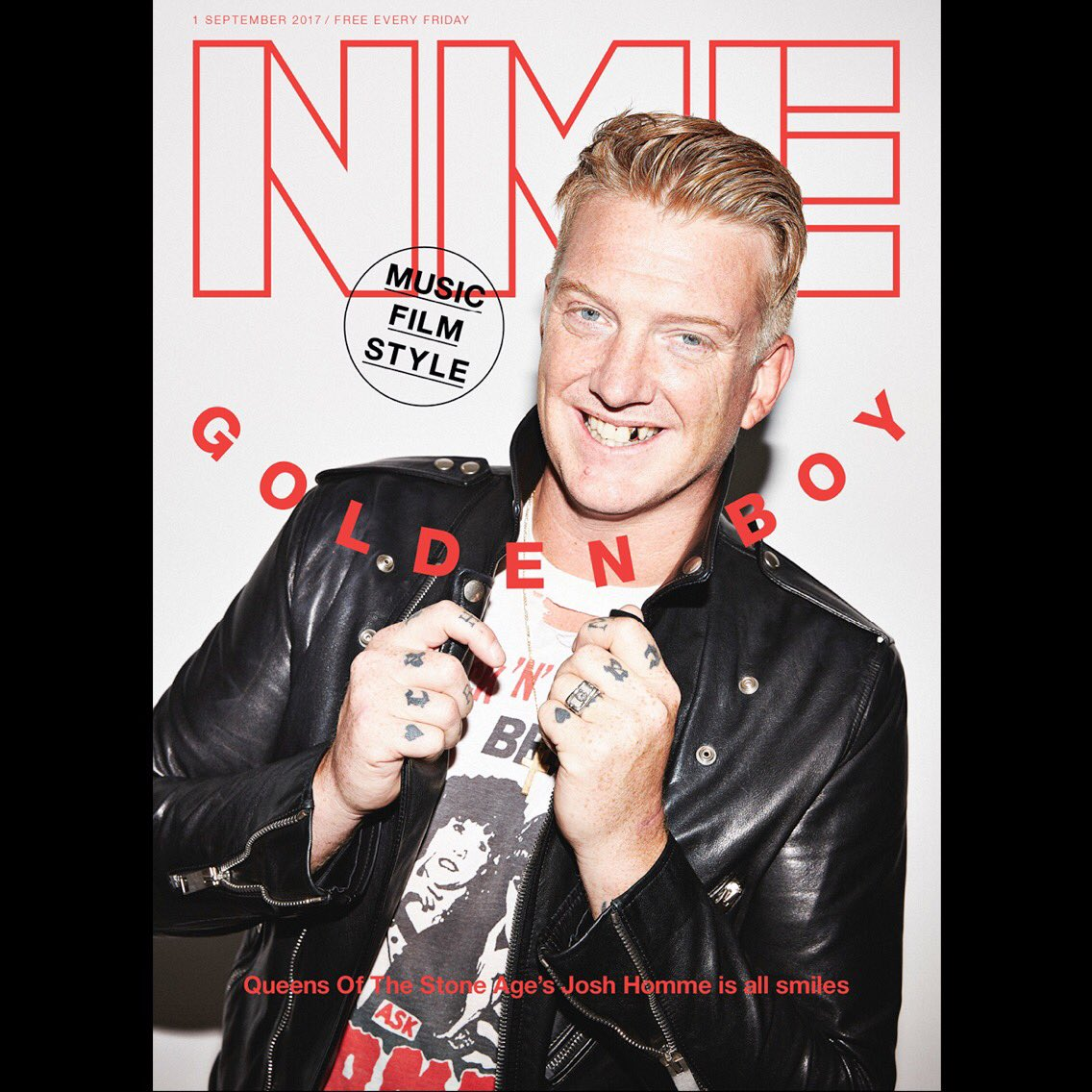 Josh Homme of Queens of the Stone Age on the cover of NME Magazine