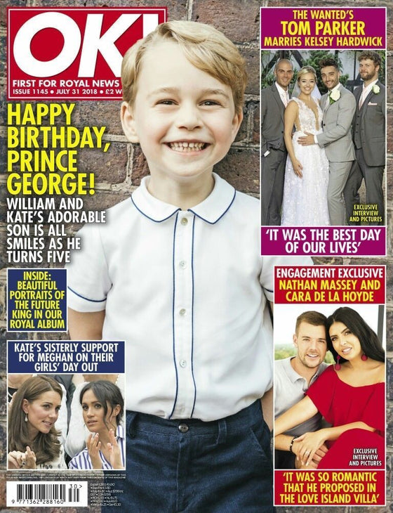 OK! Magazine July 2018: PRINCE GEORGE 5TH BIRTHDAY William PRINCESS KATE