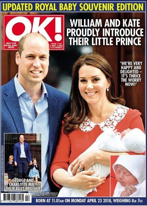 OK! Magazine May 1 2018: Royal Baby Birth Souvenir Prince William KATE MIDDLETON