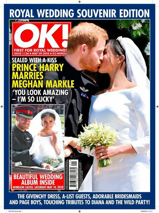 (UK) OK! Magazine 29th May 2018 ROYAL WEDDING - Meghan Markle & Prince Harry
