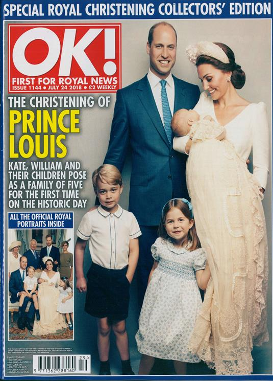 KATE MIDDLETON PRINCE LOUIS ROYAL BABY CHRISTENING SOUVENIR OK! Magazine July 2018