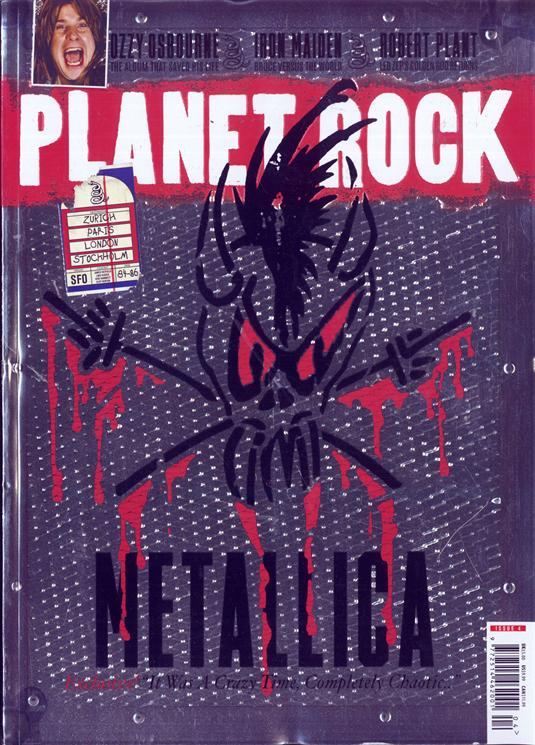 PLANET ROCK DECEMBER 2017 #4: METALLICA embossed collectors' cover