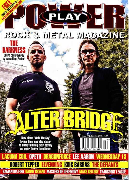 Power Play Magazine October 2019: ALTER BRIDGE COVER AND FEATURE