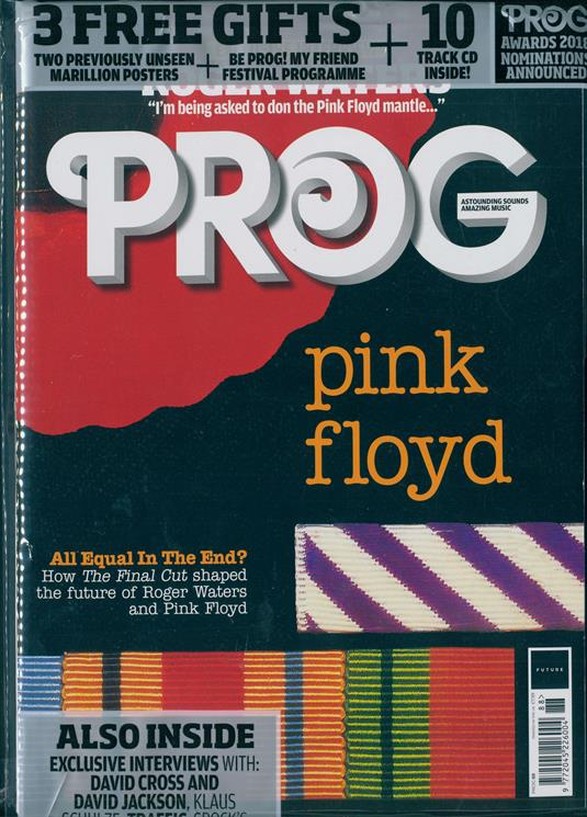PROG magazine issue # 88 - Roger Waters Pink Floyd & Unseen Marillion Posters