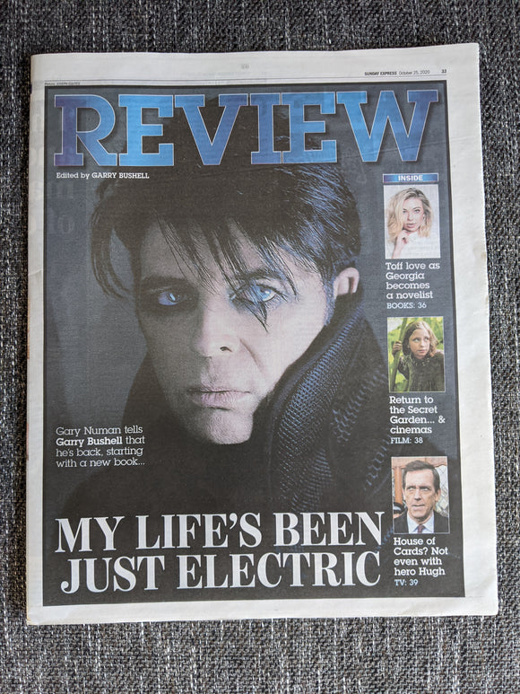 UK Express Review 25 October 2020: Gary Numan Cover