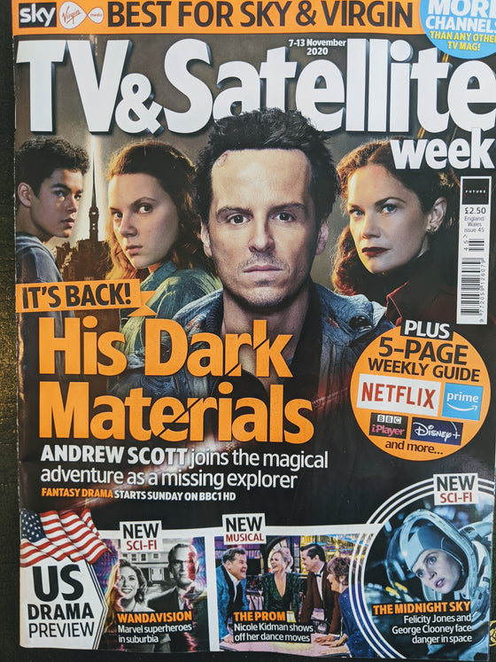 TV & SATELLITE Magazine 11/2020: ANDREW SCOTT Ruth Wilson HIS DARK MATERIALS