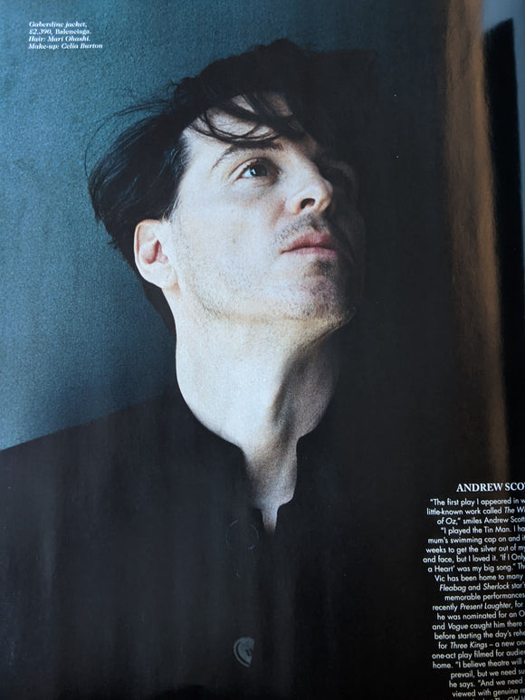 British Vogue Magazine December 2020 Andrew Scott