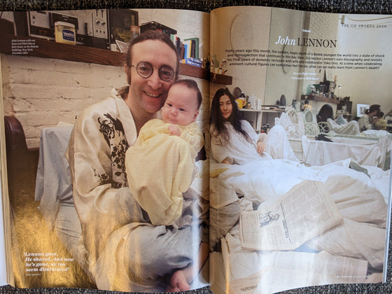 British GQ Magazine January 2021: John Lennon Icons Special