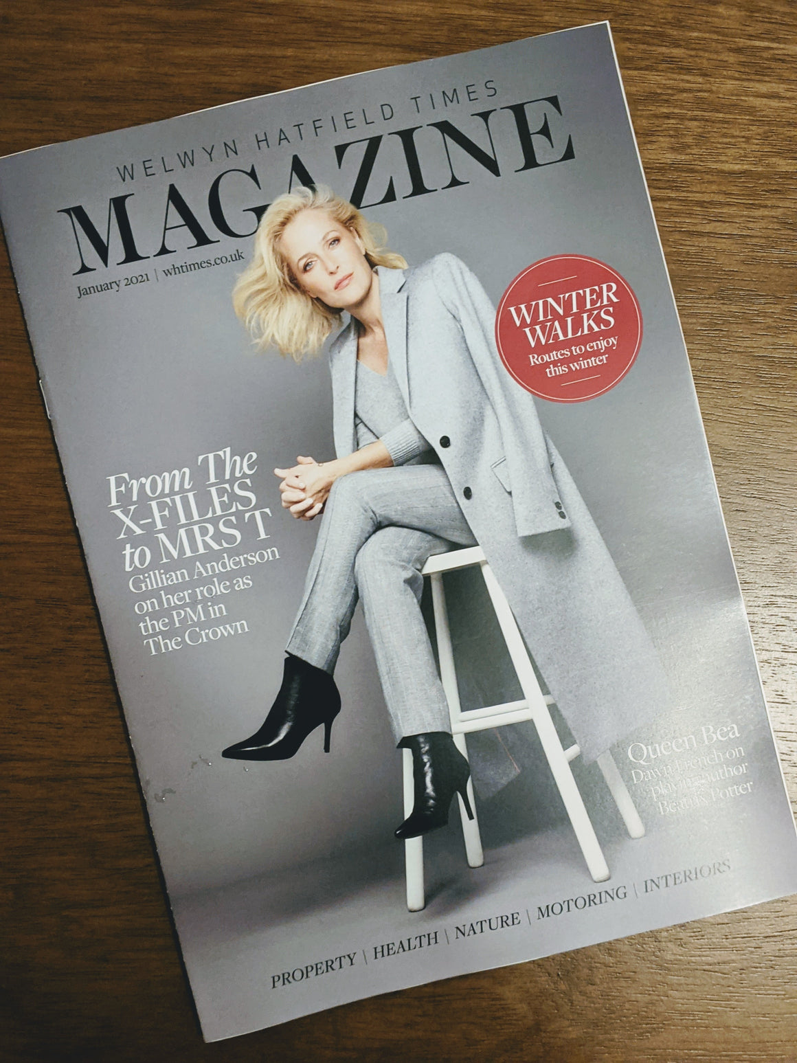 Welwyn Hatfield Times Magazine January 2021: Gillian Anderson cover