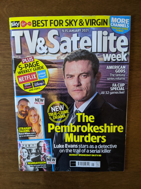 TV & Satellite magazine 12 Dec 2020 Luke Evans The Pembrokeshire Murders