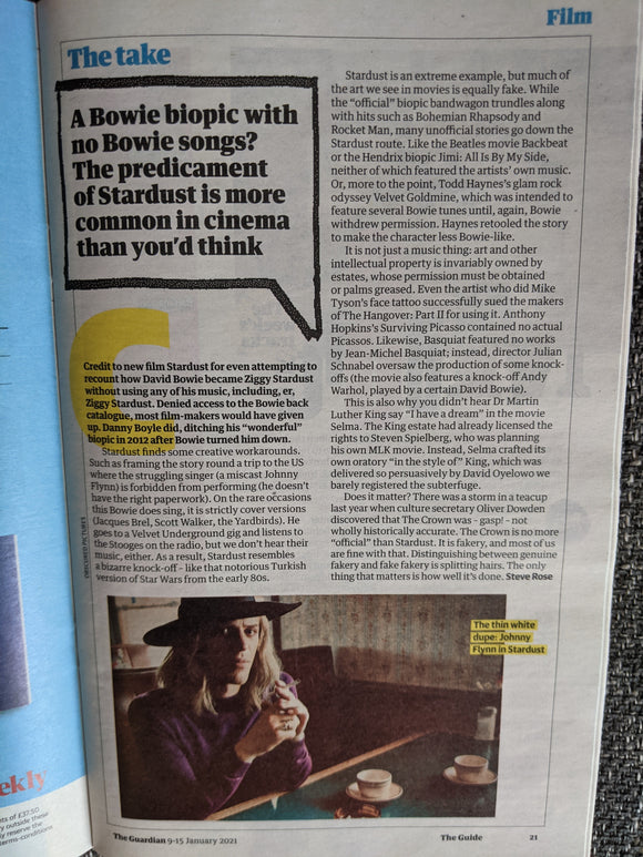 GUIDE Magazine 01/2021: OLLY ALEXANDER Keeley Hawes IT'S A SIN David Bowie